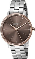 Nixon Women's A0992215-00 Kensington Analog Display Japanese Quartz Silver Watch