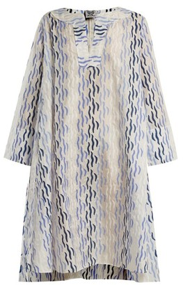 Thierry Colson Rock The Boat Printed Dress - Womens - Blue Multi