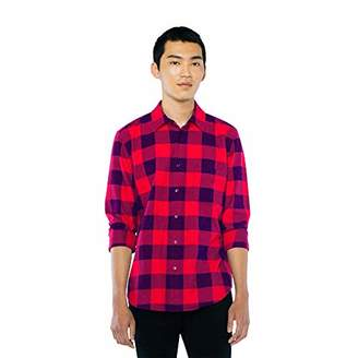 American Apparel Men's Flannel Lumberjack Long Sleeve Shirt