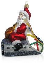 Mia Subway Santa Glass Ornament