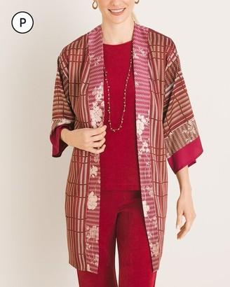 Travelers Collection Petite Mixed-Print Kimono