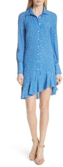 Derek Lam 10 Crosby Silk Shirtdress with Asymmetric Hem