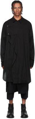 Julius Black Asymmetric Long Sleeve T-Shirt