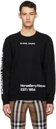 Burberry Black Location Jacquard Sweater