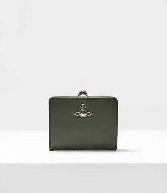 Vivienne Westwood Florence Wallet With Frame Pocket Green