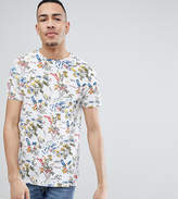 Bellfield TALL T-Shirt With Hawaiian Print