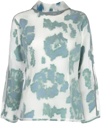 3.1 Phillip Lim Abstract Daisy-print top