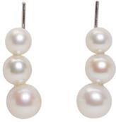 Saskia Diez Silver Triple Pearl Earrings