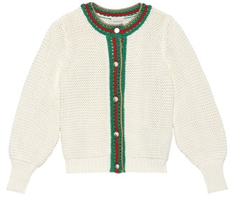 Gucci Kids Cotton cardigan