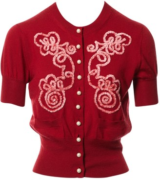 Louis Vuitton Red Cashmere Top for Women Vintage