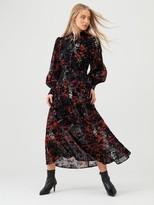 Very Floral Devore Midaxi Dress - Print