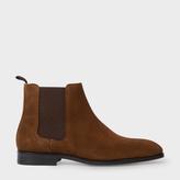 Paul Smith Men's Brown Suede 'Gerald' Chelsea Boots