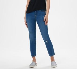 Denim & Co. Studio by Petite Classic Denim Ankle Jeans - Indigo