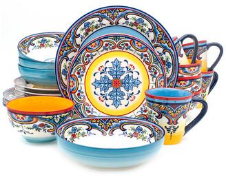 Euro Ceramica Zanzibar 20Pc Stoneware Dinnerware Set