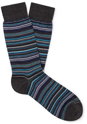 Marcoliani Milano Striped Merino Wool-Blend Socks