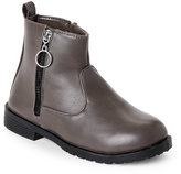 yokids (Kids Girls) Grey Sydney Side-Zip Booties