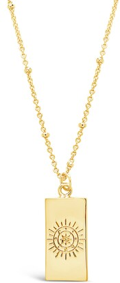Sterling Forever Wheel of Fortune Pendant Necklace