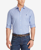 Polo Ralph Lauren Men's Big & Tall Plaid Cotton Poplin Shirt