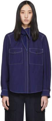 MAISON KITSUNÉ Indigo Lavalliere Shirt