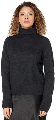Vince Fitted Turtleneck (Heather Charcoal) Women's Clothing