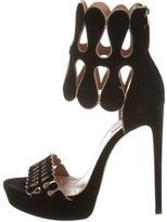 Alaia Platform Suede Sandals w/ Tags