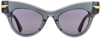 Bottega Veneta Original 04 Cat Eye Sunglasses in Dark Grey   FWRD