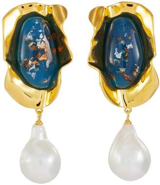EJING ZHANG 'Sabra' pearl earrings