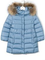 Moncler padded coat - kids - Polyamide/Feather/Raccoon Dog/Goose Down - 8 yrs