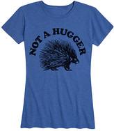 Instant Message Women's Women's Tee Shirts HEATHER - Heather Royal Blue 'Not A Hugger' Relaxed-Fit Tee - Women