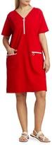 Thumbnail for your product : Joan Vass, Plus Size Mod Zip Pique Dress