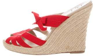 Christian Louboutin Slide Espadrille Wedges
