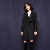 Maje Oversized fringed coat