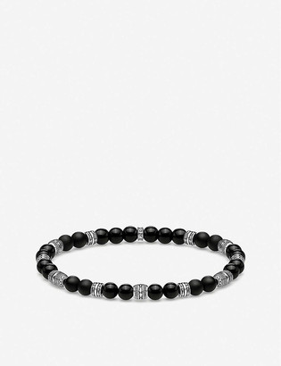 Thomas Sabo Lucky Charm obsidian and sterling silver beaded bracelet