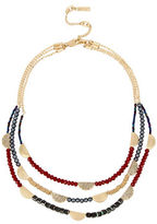 Kenneth Cole New York Pave Mixed Faceted Bead Multi-Row Necklace