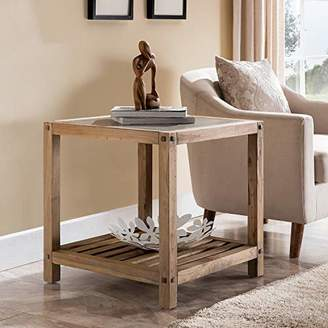 Southern Enterprises Cleary Reclaimed Wood End Table