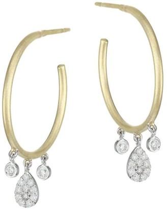 Meira T 14K Yellow Gold, 14K White Gold & Diamond Hoop Earrings