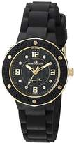 Oceanaut Women's 'Acqua Star' Quartz Stainless Steel and Silicone Casual Watch, Color:Black (Model: OC0433)