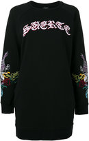 Marcelo Burlon County of Milan Irune long sweatshirt - women - Cotton/Polyester - XS