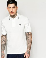Fred Perry Polo Shirt 1953 Re Issue in White Regular Fit