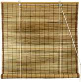 Oriental Furniture Burnt Bamboo Roll Up Window Blinds