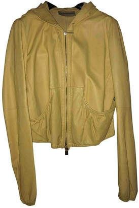 Emporio Armani \N Yellow Leather Leather Jacket for Women