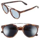 Revo Men's Buzz Retro 52Mm Sunglasses - Honey Matte Tortoise/ Blue