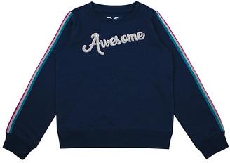 Aeropostale p.s. from Sweatshirts and Hoodies DEEPN - Deep Navy Stripe-Sleeve 'Awesome' Sweatshirt - Kids