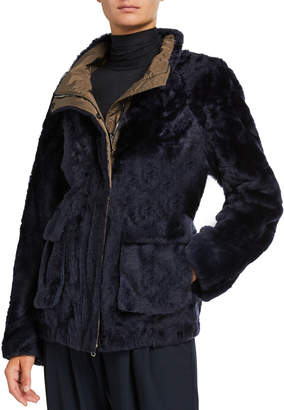 Brunello Cucinelli Reversible Lamb Fur Short Jacket