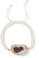 Dara Ettinger Cord, gold-plated and stone bracelet