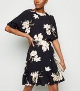 New Look AX Paris Floral Peplum Mini Dress