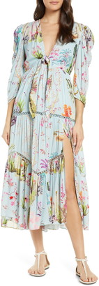 HEMANT AND NANDITA Crinkle Rayon Cover-Up Dress