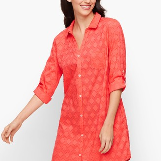 Talbots Medallion Jacquard Beach Cover Up