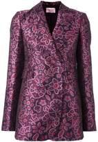 Lanvin jacquard floral detail blazer