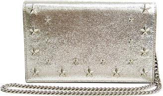 Jimmy Choo Champagne Metallic Leather Star Studded Chain Shoulder Bag